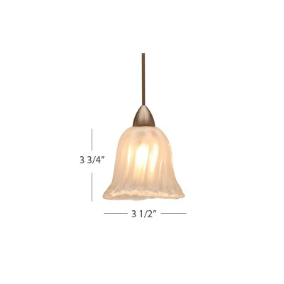WAC Lighting European 1 Light Florentine LED Pendant with Canopy Mount