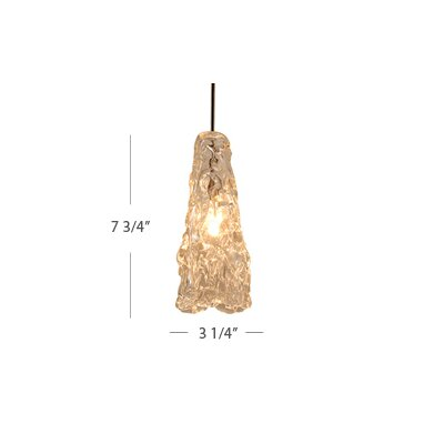 WAC Lighting European 1 Light Ice Pendant with QP-902 Socket Sets