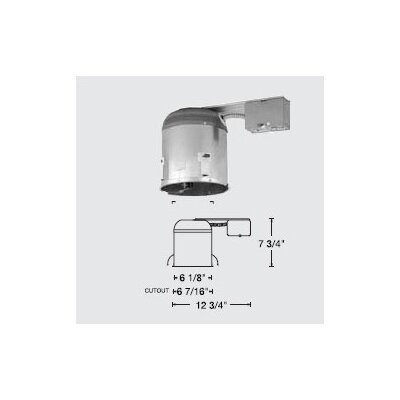 "WAC Lighting 6"" Line Voltage Non-IC Remodel Housing"