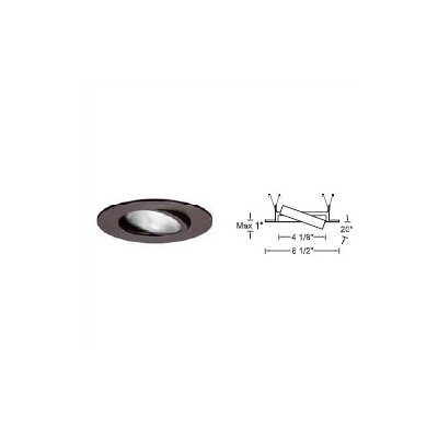 "WAC Lighting 5"" Line Voltage Recessed Trim with Adjustable Gimbal Ring and  Optional Housing"
