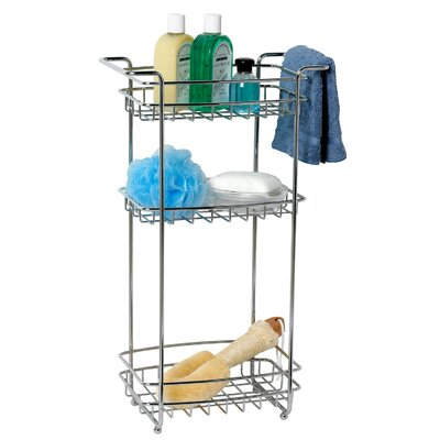 Zenith Three Tier Storage Stand in Chrome