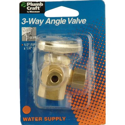 Plumb Craft Low Lead 3-Way Angle Valve