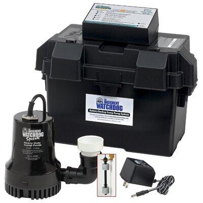 basement watchdog 1730 gph battery backup sump pump
