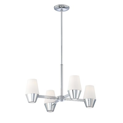 George Kovacs by Minka Retrodome 4 Light Rod Drop Chandelier