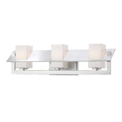 George Kovacs by Minka Tilt Three Light Bath Vanity in Brushed Aluminum