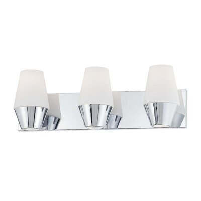 George Kovacs by Minka Retrodome Three Light Bath Vanity in Chrome