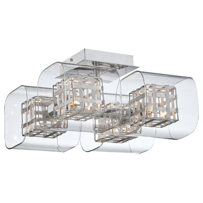 George Kovacs by Minka Jewel Box 4 Light Semi Flush Mount