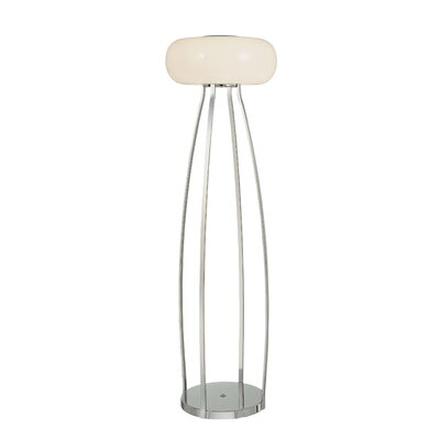 George Kovacs by Minka Lamps Floor Lamps with Etched Opal Glass