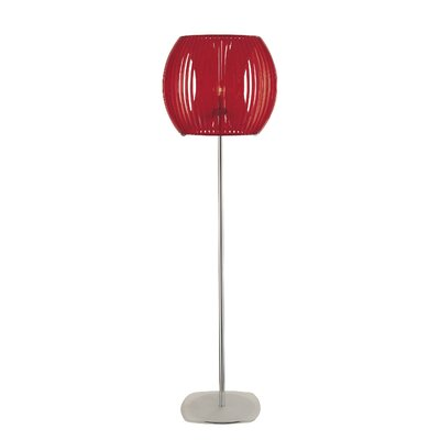 George Kovacs by Minka Families Floor Lamp with Red Shade