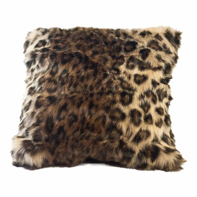 Posh Pelts Ocelot Faux Fur Pillow Cover