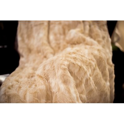Posh Pelts Cougar Faux Fur Acrylic Throw Blanket with Silky Soft Faux Fur Lining