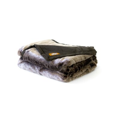 Posh Pelts Russet Chinchilla Faux Fur Throw