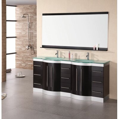 "Design Element Jade Jasper 72"" Double Sink Vanity Set"