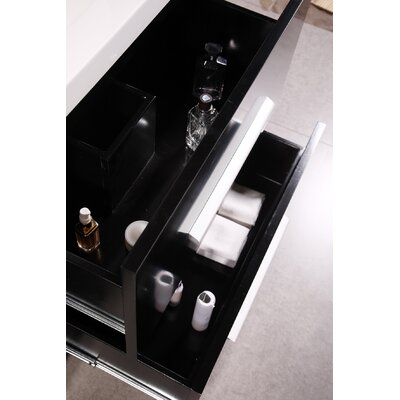 "Design Element Perfecta 72"" Double Sink Vanity Set"