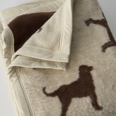 Traditions Linens Chocolate Lab Cotton / Acrylic Throw