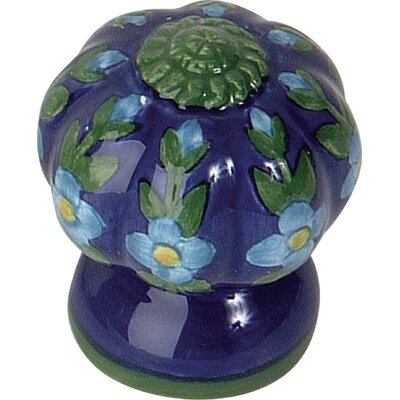 Atlas Homewares Ceramic Fluted Flowers Knob