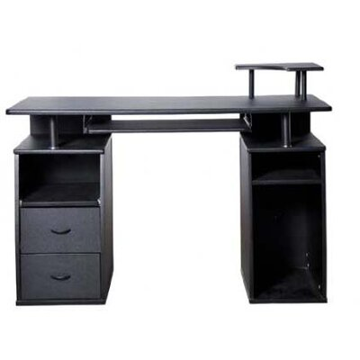 Aosom LLC HomCom Computer Desk with Elevated Shelf