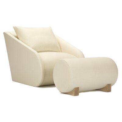 Snug Slope Lounge Chair and Ottoman