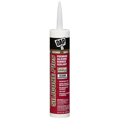 DAP 10.1 Oz Clear Silicone Plus™ Premium Silicone Rubber Sealant 08781
