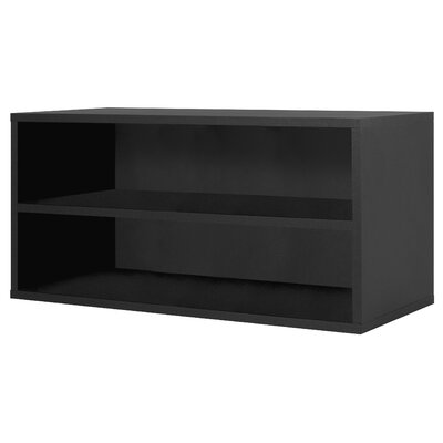 Foremost Modular Storage Large Cube with Shelf in Black