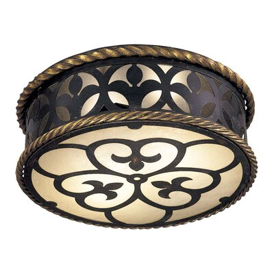 Metropolitan by Minka Montparnasse 2 Light Flush Mount