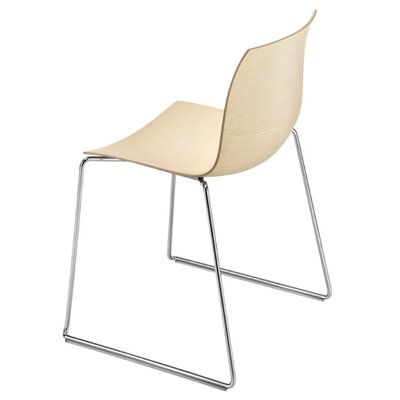 Arper Catifa 46 Wooden Chair with Sled Base