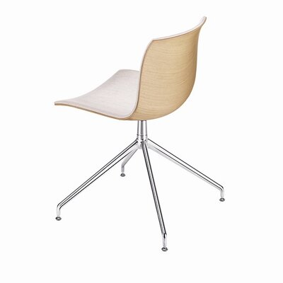 Arper Catifa 53 Polypropylene Two-Tone Chair with 4-Way Swivel Trestle Base on Glides
