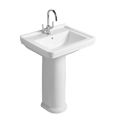 Bissonnet Universal Noble Pedestal Bathroom Sink