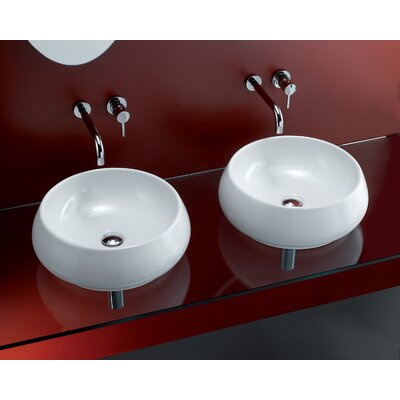 Bissonnet Tulip Porcelain Vessel Sink with Overflow in White