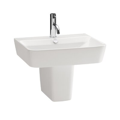 Bissonnet Emma Semi Pedestal Wall Hung Bathroom Sink