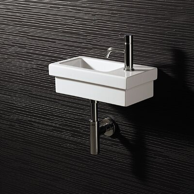 Bissonnet Area Boutique Logic 42 Ceramic Bathroom Sink
