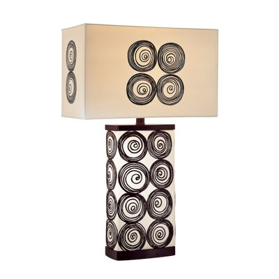 Minka Ambience One Light Accent Table Lamp in Black and White