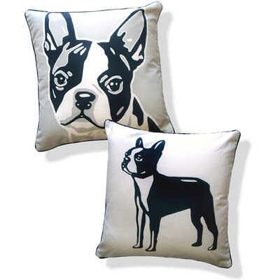 Naked Decor Doggie Style Reversible Boston Terrier Pillow