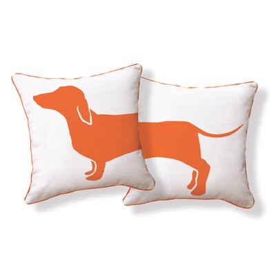 Naked Decor Happy Solid Reversible Hot Dog Pillow