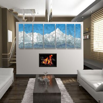 Abstract Mountain by Ash Carl Metal Wall Art - 23.5
