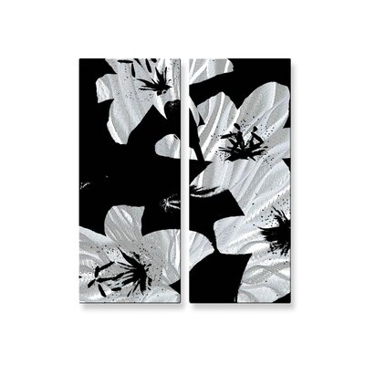 Black Lilies Metal Wall Hanging