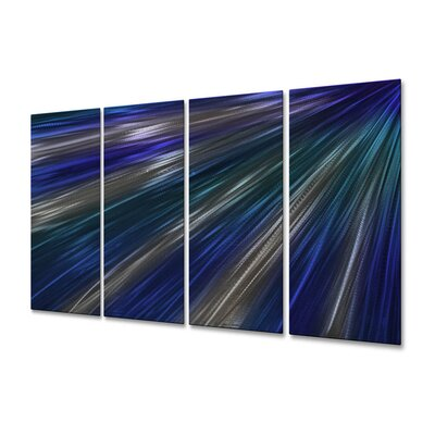All My Walls Blue Rays Of Light III Metal Wall Art