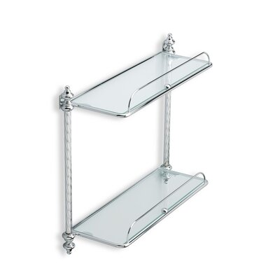 Stilhaus by Nameeks Giunone Wall Mounted Double Glass Shelf