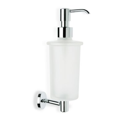 Stilhaus by Nameeks Pegaso Wall Mounted Frosted Glass Soap Dispenser in Chrome