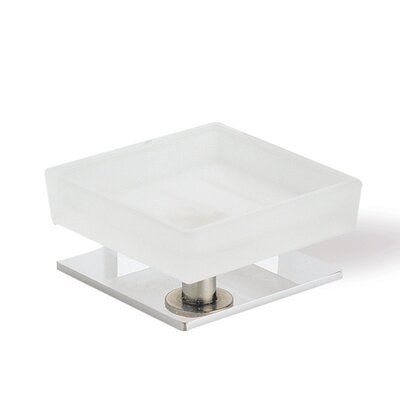 Stilhaus by Nameeks Quid Square Soap Dish with Base in Chrome