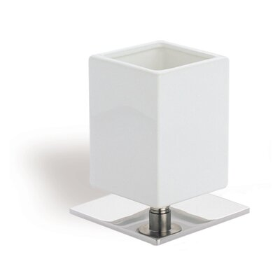 Stilhaus by Nameeks Urania Square Toothbrush Holder in Chrome