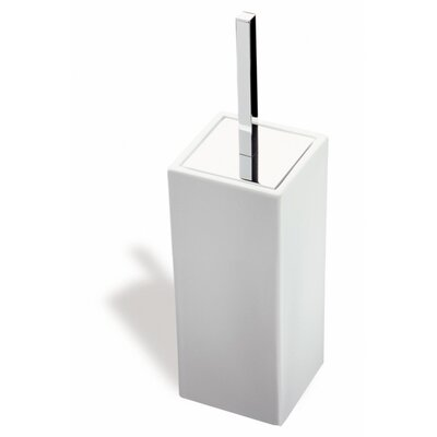 Stilhaus by Nameeks Urania Free Standing Square Toilet Brush Holder in Chrome
