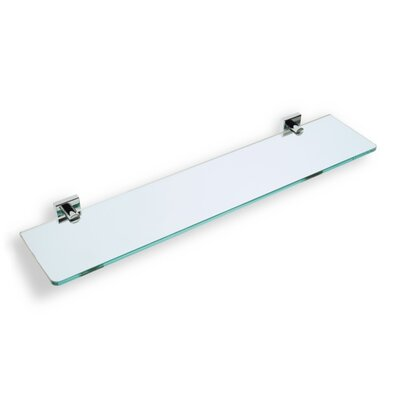 Stilhaus by Nameeks Urania Wall Mounted Glass Shelf with Holder in Chrome