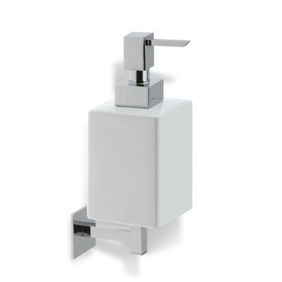 Stilhaus by Nameeks Urania Wall Mounted Square Soap Dispenser in Chrome