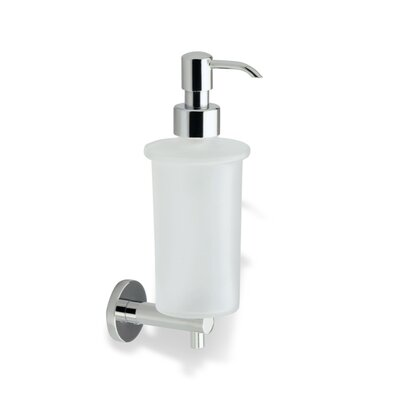 Stilhaus by Nameeks Venus Wall Mounted Round Soap Dispenser in Chrome