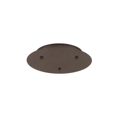 "LBL Lighting 12.75"" 120V Round Canopy for Three Pendant Configuration"