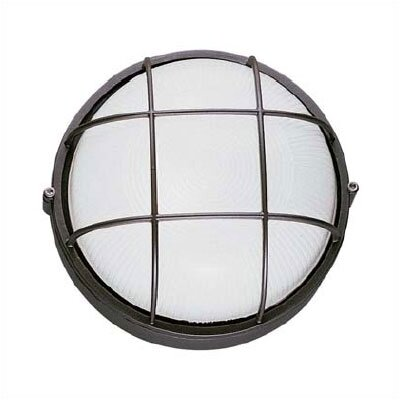 LBL Lighting Large Round Outdoor Bulk Head Wall/Ceiling Mounted Lantern