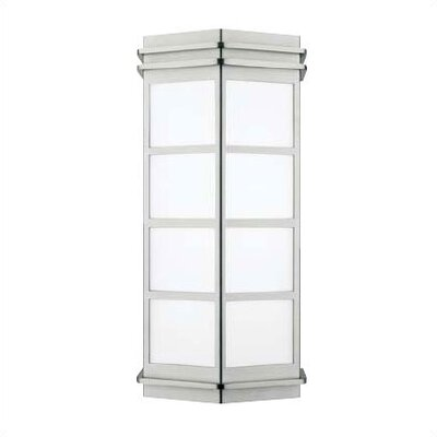 LBL Lighting Modular New York Small Outdoor Wall Light in Stainless Steel