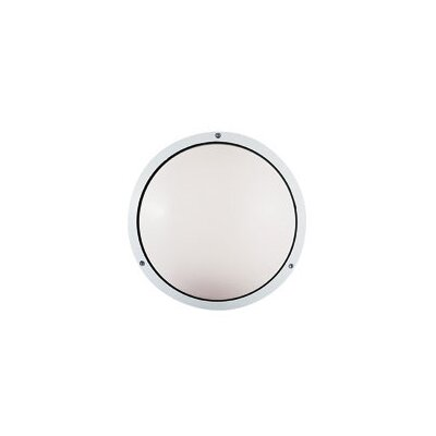 LBL Lighting Geoform Two Light Round Ring Outdoor Fluorescent Wall Sconce in Silver