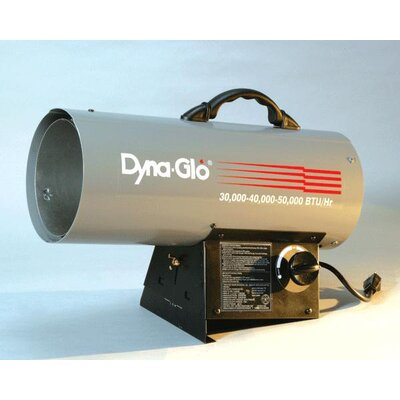 World Marketing 50,000 BTU Forced Air Utility Propane Space Heater with Hose and Regulator